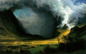 Albert Bierstadt-Storm in the Mountains
