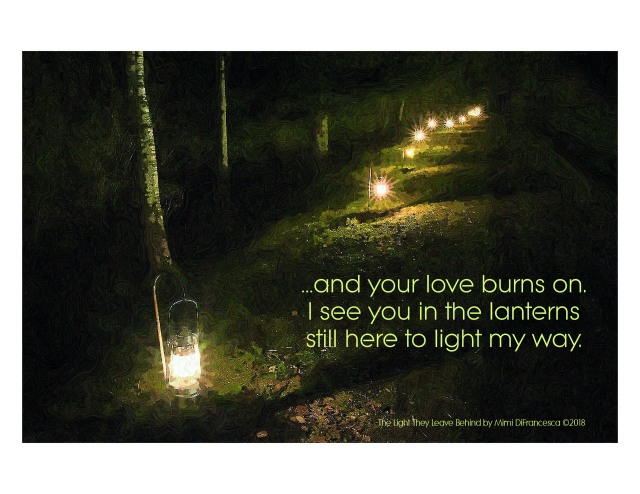 The Light They Leave Behind haiku graphic